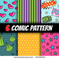 stock-vector-seamless-comic-pattern-vector-set-272181944